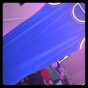 Blue mini dress